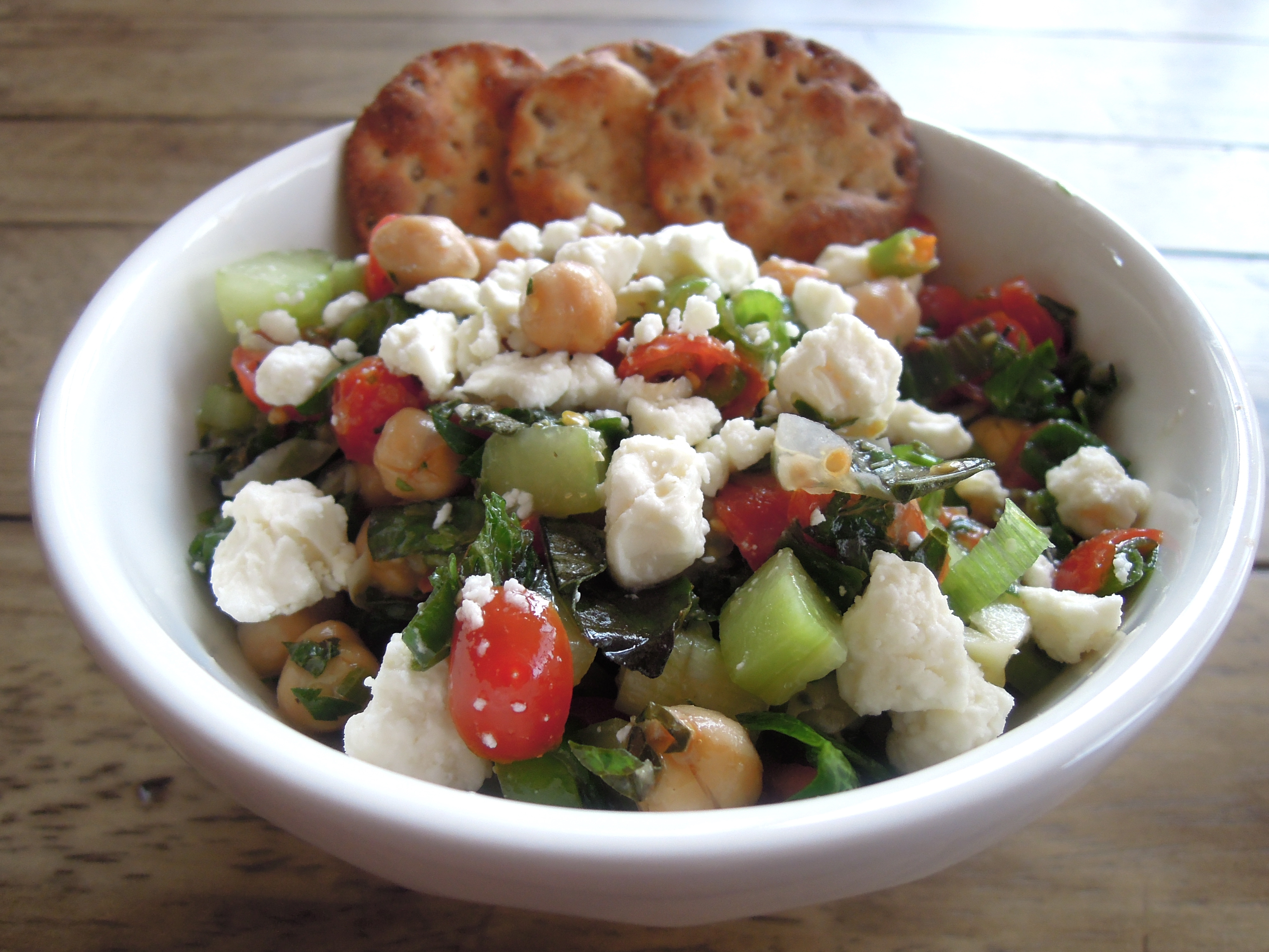 Mediterranean Chickpea Salad | A Balanced Life Cooks