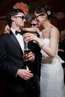 If this doesn't look like two newlyweds having a blast at their wedding I don't know what does.