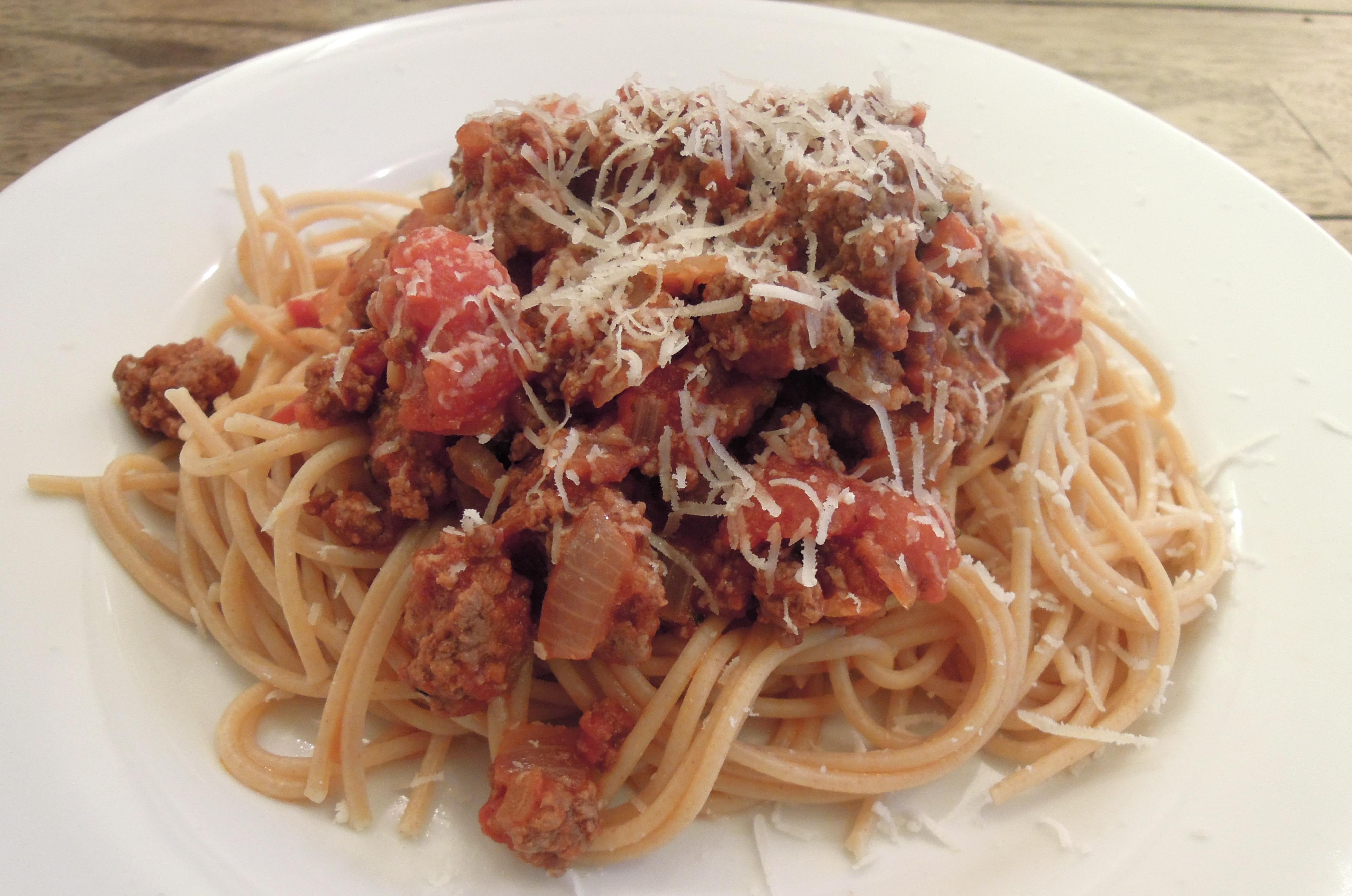 Spaghetti with Meat Sauce | A Balanced Life Cooks