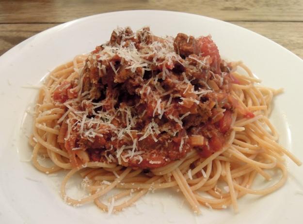Spaghetti with Meat Sauce via abalancedlifecooks.com