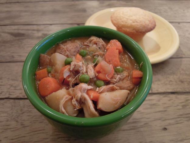 Slow cooker chicken stew via ABalancedLifeCooks.com