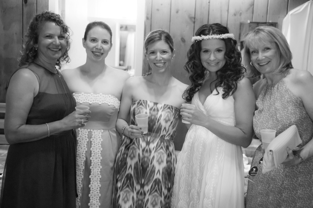 Ski House Ladies at Kaite & Adam's wedding (photo by Adam Pass)