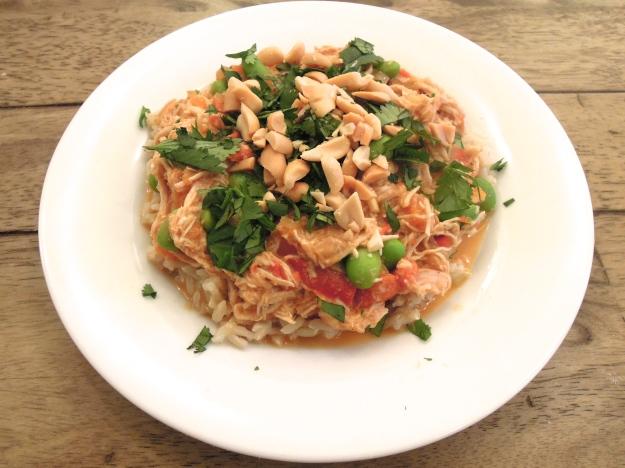 Slow coooker thai peanut chicken curry