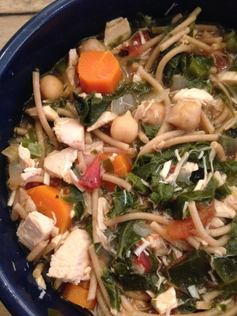 Chicken Vegetable Soup via ABalancedLifeCooks.com
