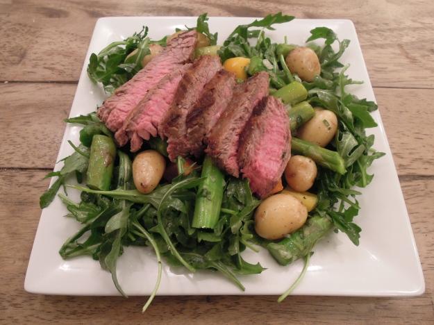 Steak & Asparagus Spring Salad via ABalancedLifeCooks.com