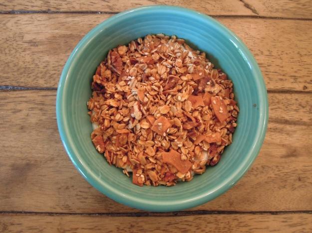 Toasted Coconut Granola via ABalancedLifeCooks.com