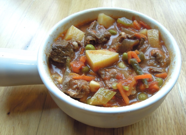 Lean bison vegetable soup. ABalancedLifeCooks.com