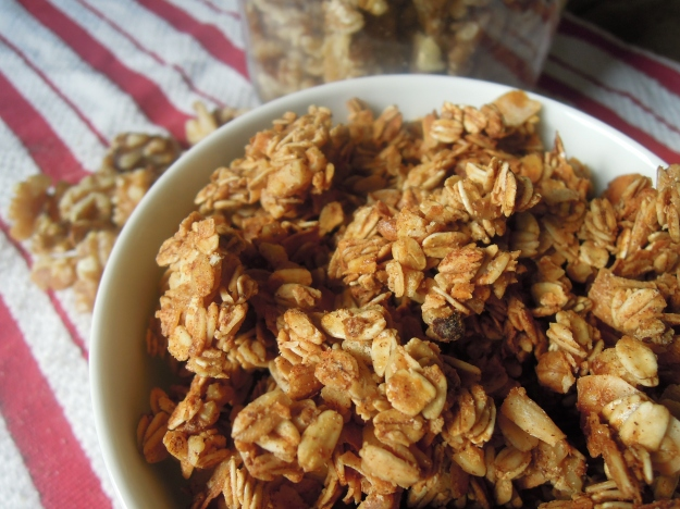 Maple-Walnut Granola. ABalancedLifeCooks.com