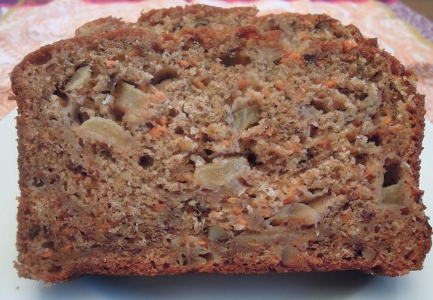 Whole Wheat ABC (Apple, Banana, Carrot) Bread. ABalancedLifeCooks.com