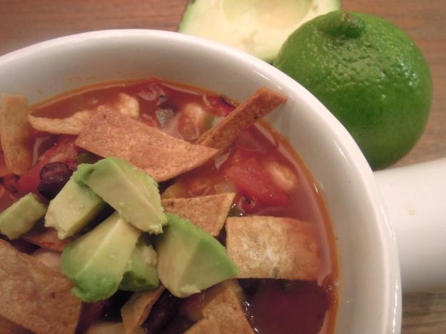 Vegetarian Tortilla Soup. ABalancedLifeCooks.com