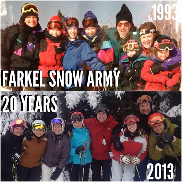 This holiday while we were all at Mt. Snow we replicated a photo we took 20 years ago!