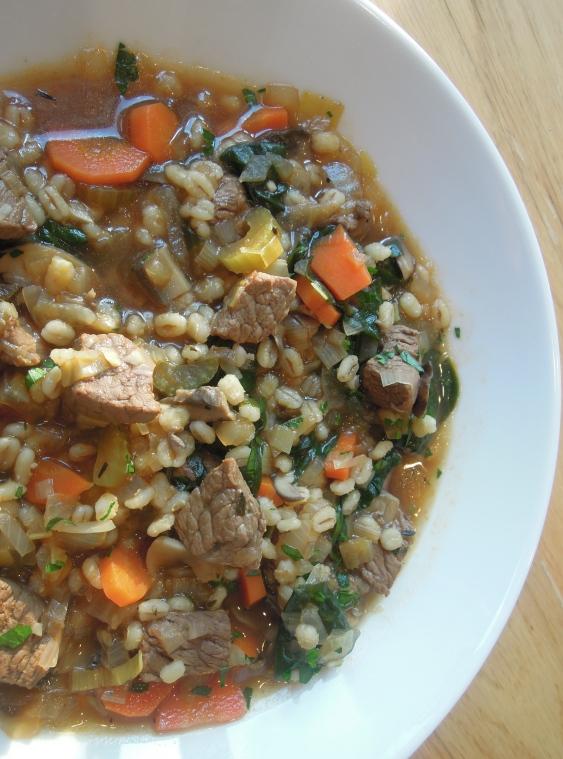 Beef Barley Mushroom Soup