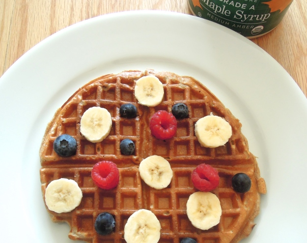 High protein gluten free waffles. Crispy on the outside, fluffy on the inside - just as they should be!