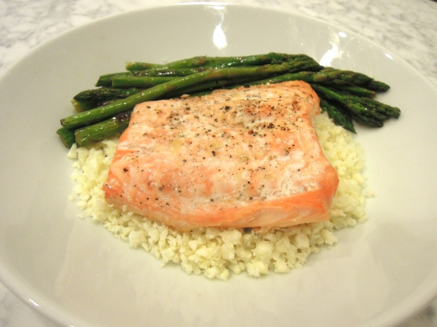 Coconut Lime Salmon with Cauliflower Rice