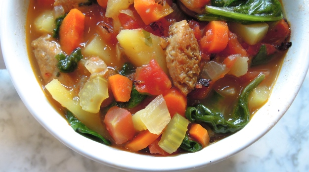 Chicken Sausage Vegetable Soup